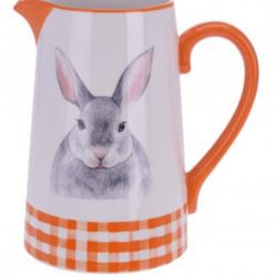 Carafa Bunny, 16.3x11.6x17.7 cm, dolomita, portocaliu