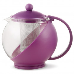 Ceainic cu infuzor Luigi Ferrero, FR-8125JS, sticla temperata/inox, 1.25 L, mov