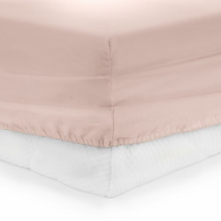 Cearceaf de pat cu elastic Pink Heinner, 90x200 cm, 100% bumbac, roz