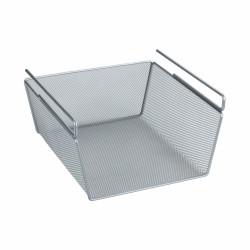 Cos depozitare pentru raft, Wenko, 28x14x23 cm, metal, argintiu