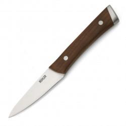 Cutit pentru decojit Muhler, MR-2509SS, 9 cm, inox/lemn de frasin