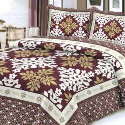 Cuvertura de pat + 2 Fete de Perne, Bumbac Tip Finet, Imprimata, Pat 2 persoane, CFI-14