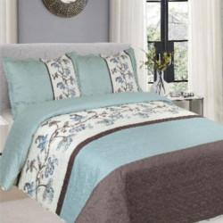 Cuvertura de pat + 2 Fete de Perne, Bumbac Tip Finet, Imprimata, Pat 2 persoane, CFI-81