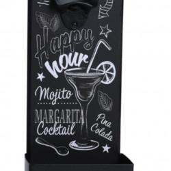 Desfacator de sticle Happy hour, 14x9.5x36 cm, metal, negru