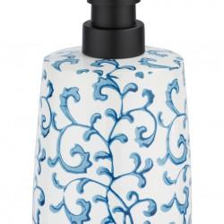 Dozator de sapun Mirabello, Wenko, 8.5 x 15 cm, ceramica, alb/albastru