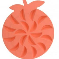 Forma pentu gheata Orange, 19x16x2 cm, termoplas, portocaliu