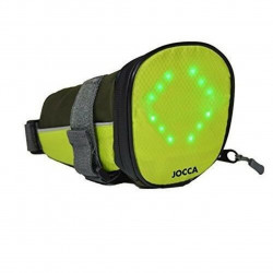 Geanta cu indicator luminos pentru bicicleta Jocca, unisex, negru/galben