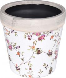 Ghiveci Flowerprint, 16x15.8 cm, ceramica