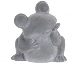 Ghiveci Frog, 19.5x17.5x20.5 cm, ciment, gri