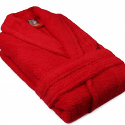 Halat de baie unisex, Beverly Hills Polo Club, 100% bumbac, M/L, Red