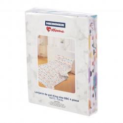 Lenjerie de pat dubla Cards, Heinner Home, 4 piese, 220 x 240 cm, 100% bumbac, multicolora