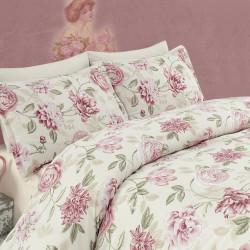 Lenjerie de pat dubla, Eponj Home, Care Pink, 4 piese, policoton, multicolor