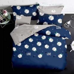 Lenjerie de Pat Finet Satinat, 6 piese, Blue Love