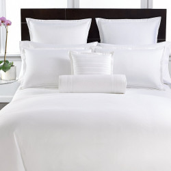 Lenjerie de pat pentru doua persoane, Boutique Satin, Luxury, 4 piese, 100% bumbac egiptean satinat, TC 400, 160 gr/mp, alb