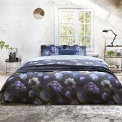 Lenjerie de pat pentru doua persoane, Royal Textile, Primaviera Deluxe Cecile Blue, 3 piese, 100% bumbac satinat, multicolor
