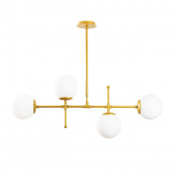Lustra Mudoni MR - 951, Opviq, 98 x 15 x 80 cm, 4 x E27, 100W, auriu