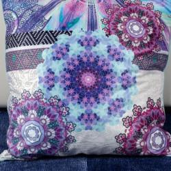 Perna Decorativa 50x50 cm, Puf siliconic + Catifea, Multicolor, Z08-25