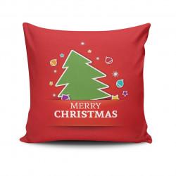 Perna decorativa, Christmas NOELKRLNT-27, 43x43 cm, policoton, multicolor