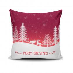 Perna decorativa NOELKRLNT-15, Christmas, 43x43 cm, policoton, multicolor