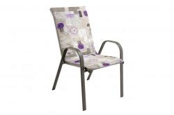 Perna scaun cu spatar Alcam, Midsummer, 105x48x3 cm, microfibra matlasta, Lavanda