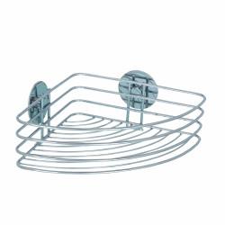 Polita de colt pentru baie, Turbo-Loc®, Wenko, 20 x 26.5 x 10.5 cm, inox, argintiu