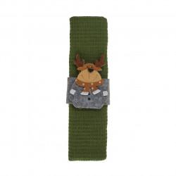 Prosop de bucatarie cu inel Reindeer, Heinner, 38x64 cm, bumbac, verde