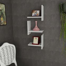 Raft pentru perete, Wooden Art, Demand White, 31.8x90x22 cm