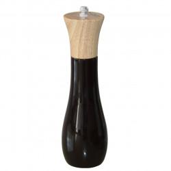 Rasnita manuala pentru sare/piper, Heinner, 20 cm, lemn de arbore de cauciuc/presa din ceramica