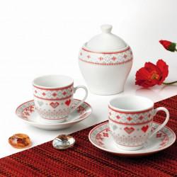 Serviciu pentru cafea Traditional, Oti, 6 piese, portelan