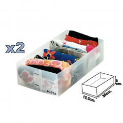 Set 2 organizatoare sertar Jocca, 30x15.5x8 cm, polipropilena, alb