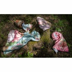 Set 2 prosoape de baie Province Rose, Aglika, 50 x 100 cm/ 50 x 30 cm, 70% bumbac, 30% microfibra, multicolor