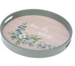 Set 2 tavi Love, 38x4.5 cm, lemn, verde
