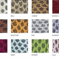 Set Huse Elastice Bicolore - Canapea 3 Persoane + 2 Fotolii - Maro si Maro Inchis - Kahve