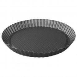Tava de copt Muhler, MR-4008, margini ondulate, otel carbon non-stick, Ø 27.5 cm, gri
