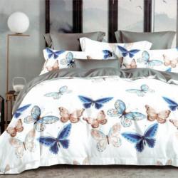 Lenjerie de Pat 1 Persoana, Finet Satinat, Beautiful Butterflies, TF1-04