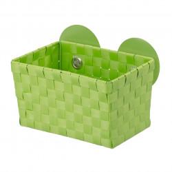 Cos de depozitare Fermo Green, Wenko, 14 x 14.5 x 20.5 cm, polietilena/policarbonat, verde