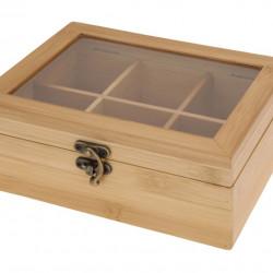 Cutie pentru ceai Bamboo, 21x16x7.8 cm, bambus