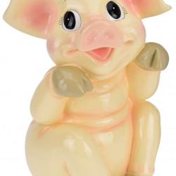 Decoratiune Pig sitting to left, 23x23x36 cm, polirasina