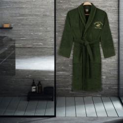 Halat de baie unisex, Beverly Hills Polo Club, 100% bumbac, L/XL, Khaki