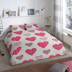 Lenjerie de pat pentru doua persoane, Good Morning, Marie, 100% bumbac, 3 piese, multicolor