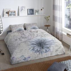 Lenjerie de pat pentru doua persoane, Good Morning Melia, 100% bumbac, 3 piese, multicolora