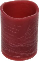 Lumanare cu LED, ceara de petrol, 5x6.5 cm, rosu