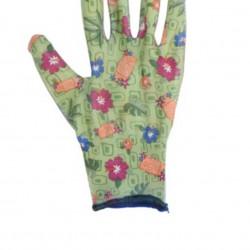 Manusi pentru gradinarit Flower, L, poliester, verde
