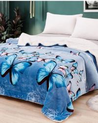 Patura Cocolino Dubla cu Blanita, Blue Butterflies, PDBF-04