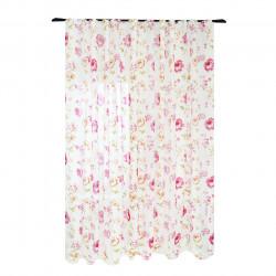 Perdea Imagine, Fiore, 300x245 cm, poliester, rosu