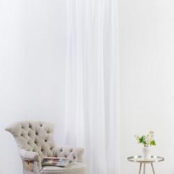 Perdea Mendola Interior, Batiste, 140x245 cm, poliester, alb