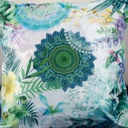 Perna Decorativa 50x50 cm, Puf siliconic + Catifea, Multicolor, Z08-05