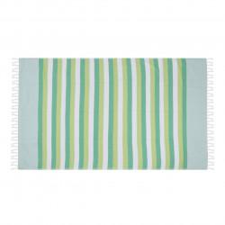 Prosop de plaja pestemal Pamukkale, 100 x 180 cm, 100% bumbac, verde/crem