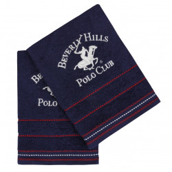 Set 2 prosoape de maini, Beverly Hills Polo Club, 403, 50x90 cm, 100% bumbac, bleumarin
