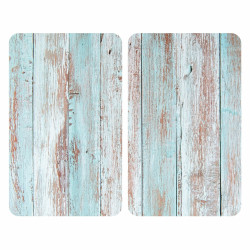 Set 2 protecții universale pentru aragaz, Wenko Blue Wood